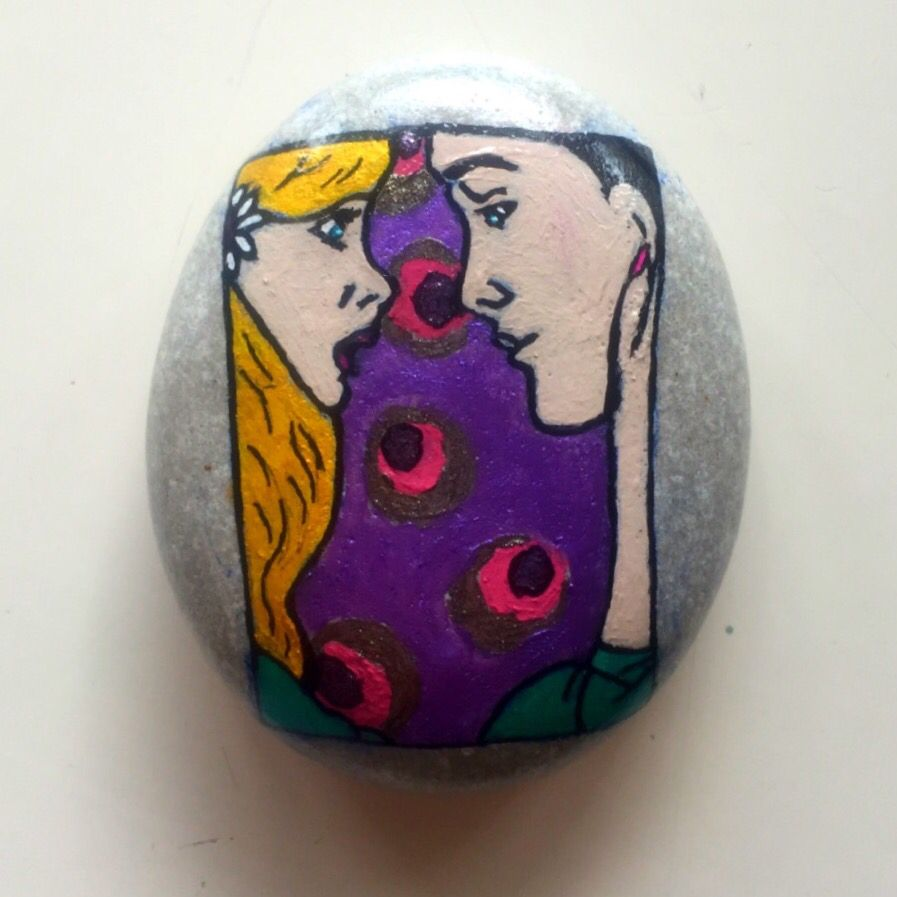Pop Art Couple Stone Painting  https://www.etsy.com/listing/273947226/pop-art-couple-stone-painting?ref=shop_home_active_3