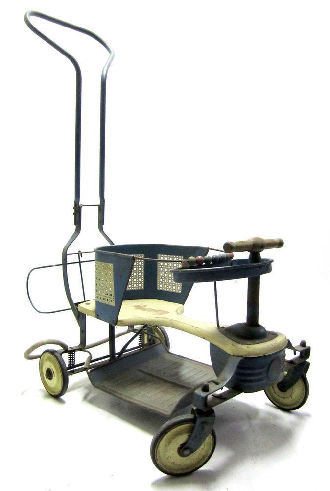 Complete 1940/1950's Vtg Pal Baby Walker(Taylor Tot Stroller ...