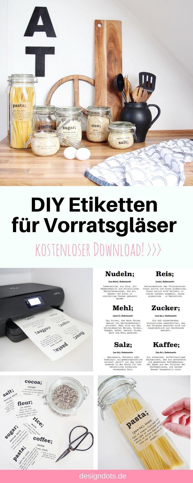 DIY Etiketten für Vorratsgläser zum ausdrucken #weckgläserdekorieren