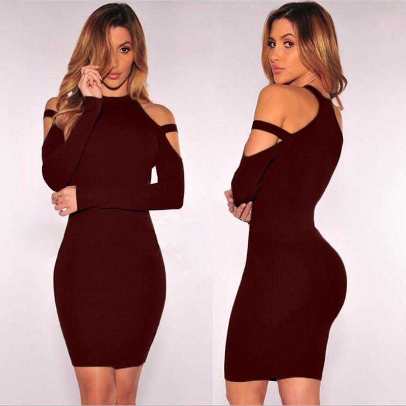 Kim Kardashian white long sleeve bandage bodycon dress | Bodycon ...