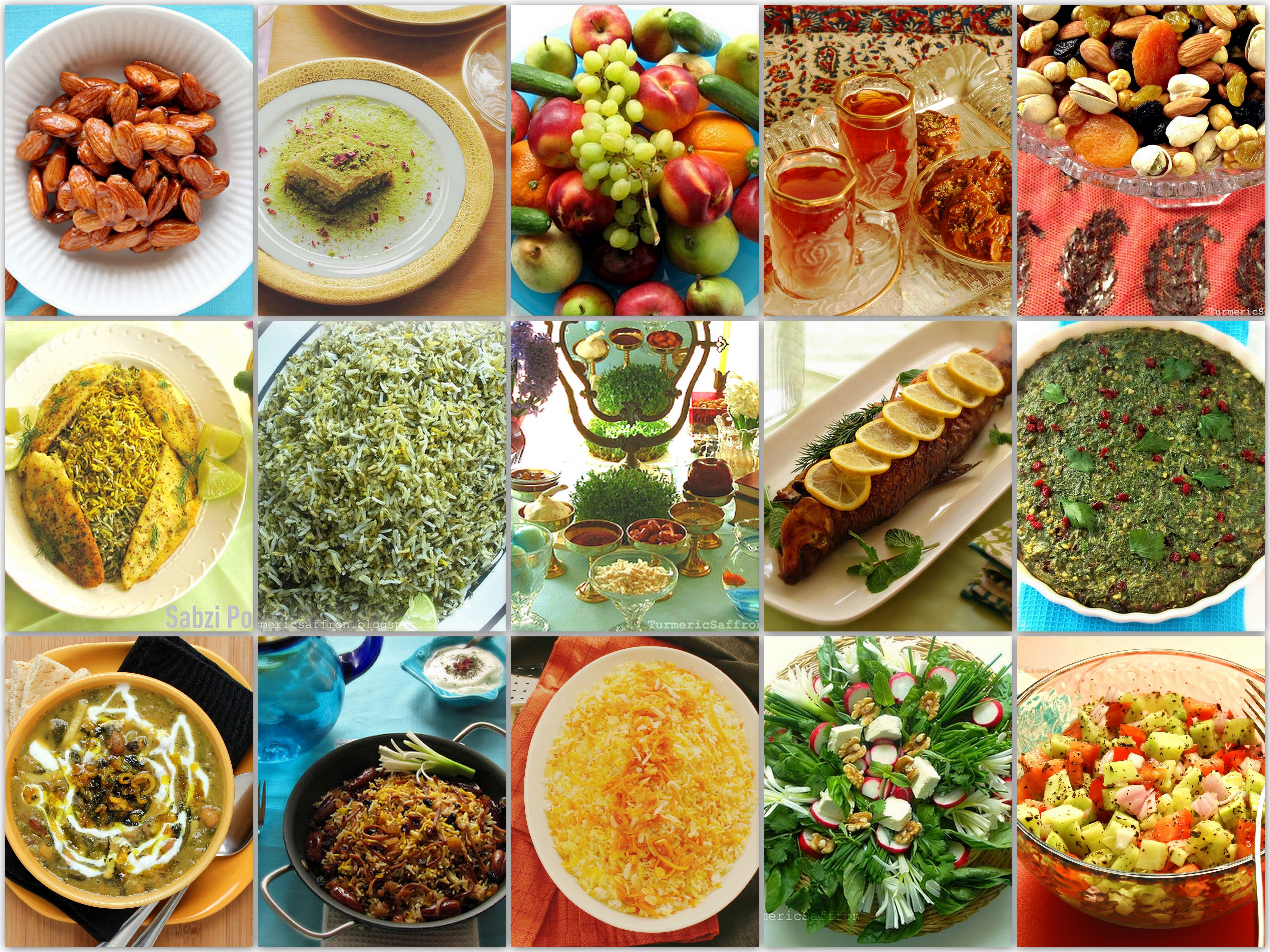 Nowruz lunch dinner menu nowruz persian new year for Ancient persian cuisine