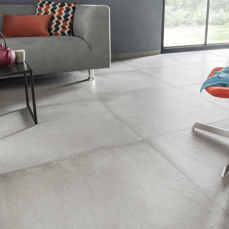 Carrelage Sol Et Mur Intenso Beton Gris Ciment Time L 75 X L 75 Cm Home Decor Concrete Floors Tiles