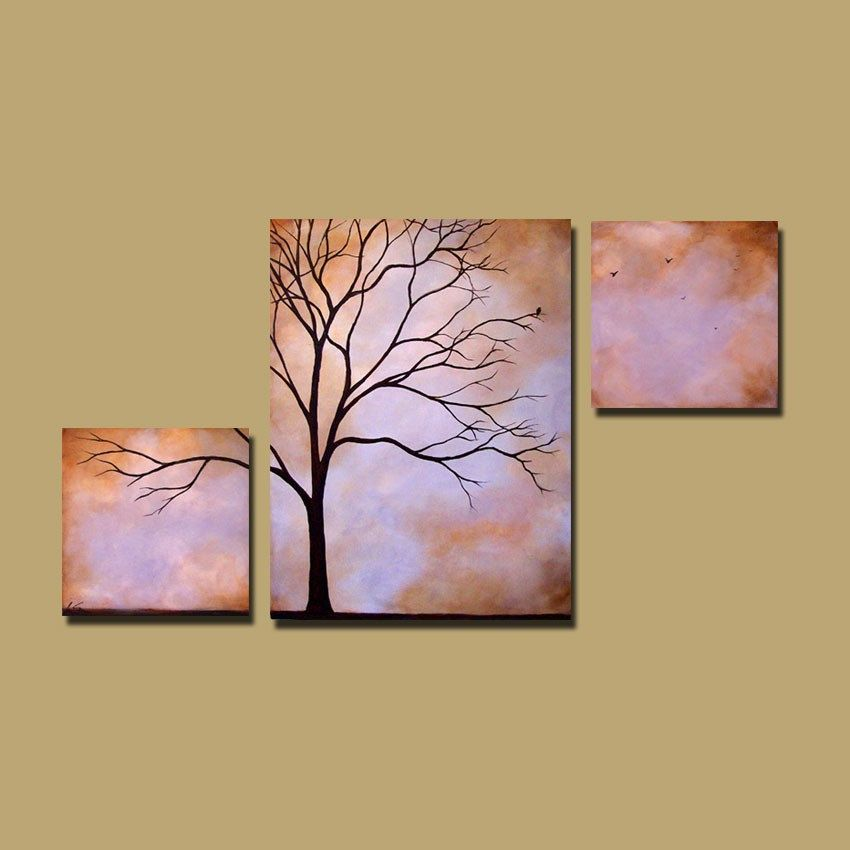 Abstract Tree Painting, Custom earthy wall art, large tree art ...