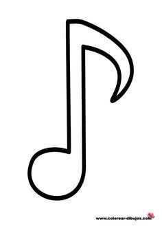 Plantilla De Notas Musicales Para Pintar Buscar Con Google