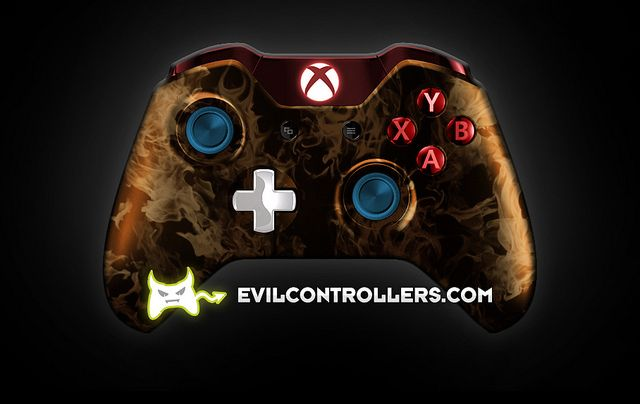 XboxOneController-OrangeFire | Flickr - Photo Sharing! #Xbox1Controller #CustomController #customXboxOneController #xboxone