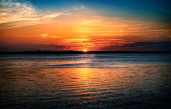 Lake Erie Sunset Print, Sun, Waterscape, Sunset Tree, Clouds, Landscape Photograph, Nature, Fine Art Photography, 5x7, 8x10, 11x14