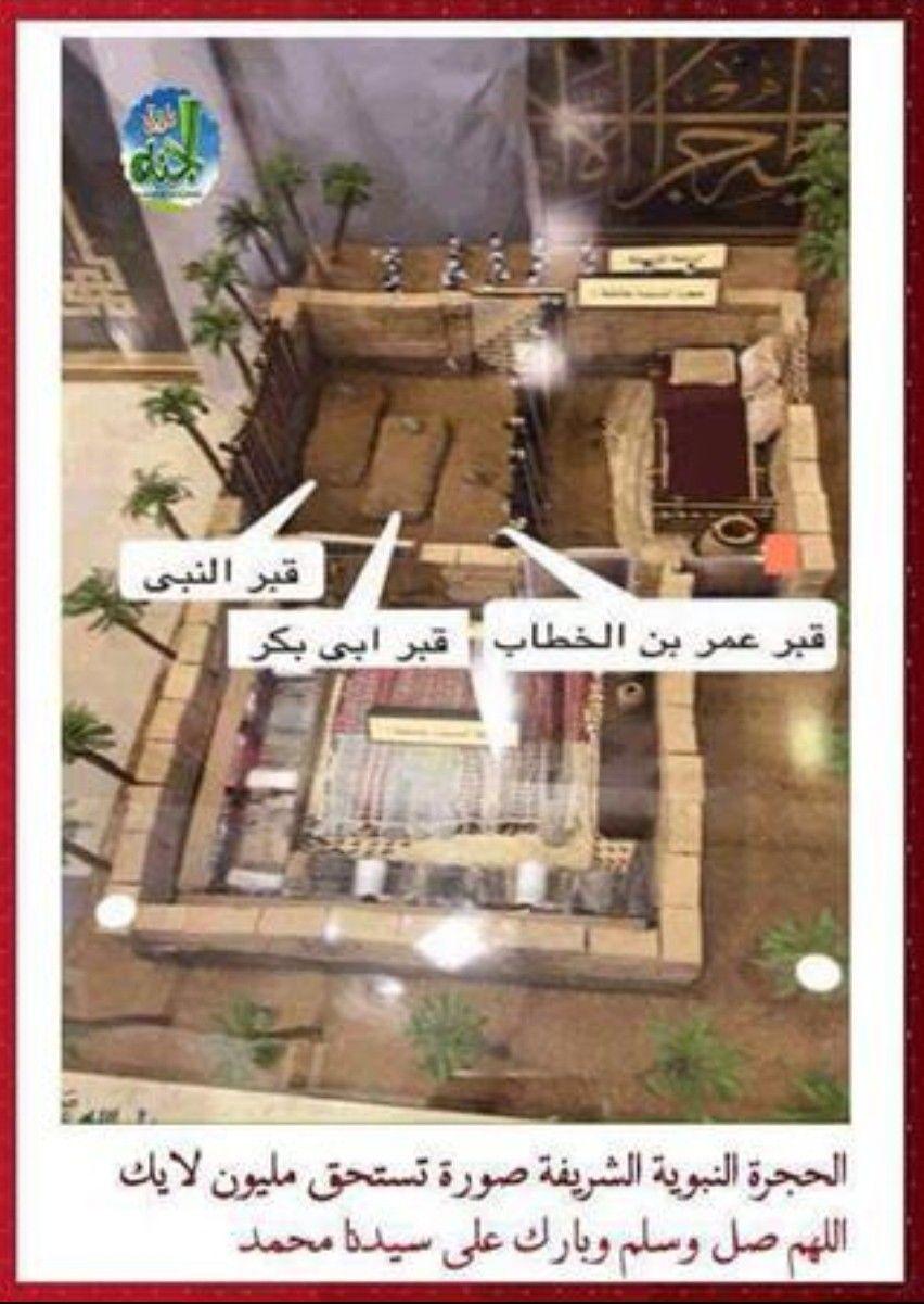 قبر النبي صلى الله عليه وسلم من الداخل