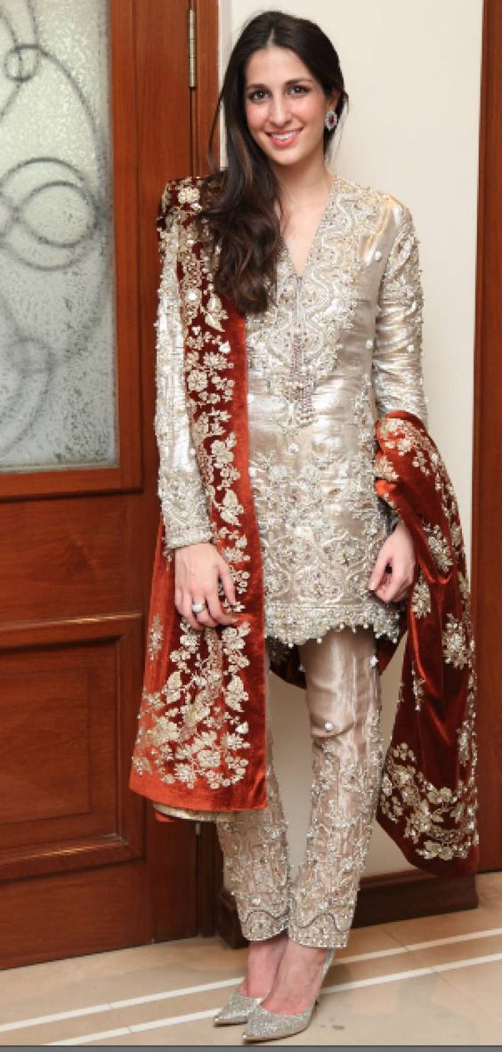 Latest Embroidered Shirts With Trousers 2016 2017 Designs