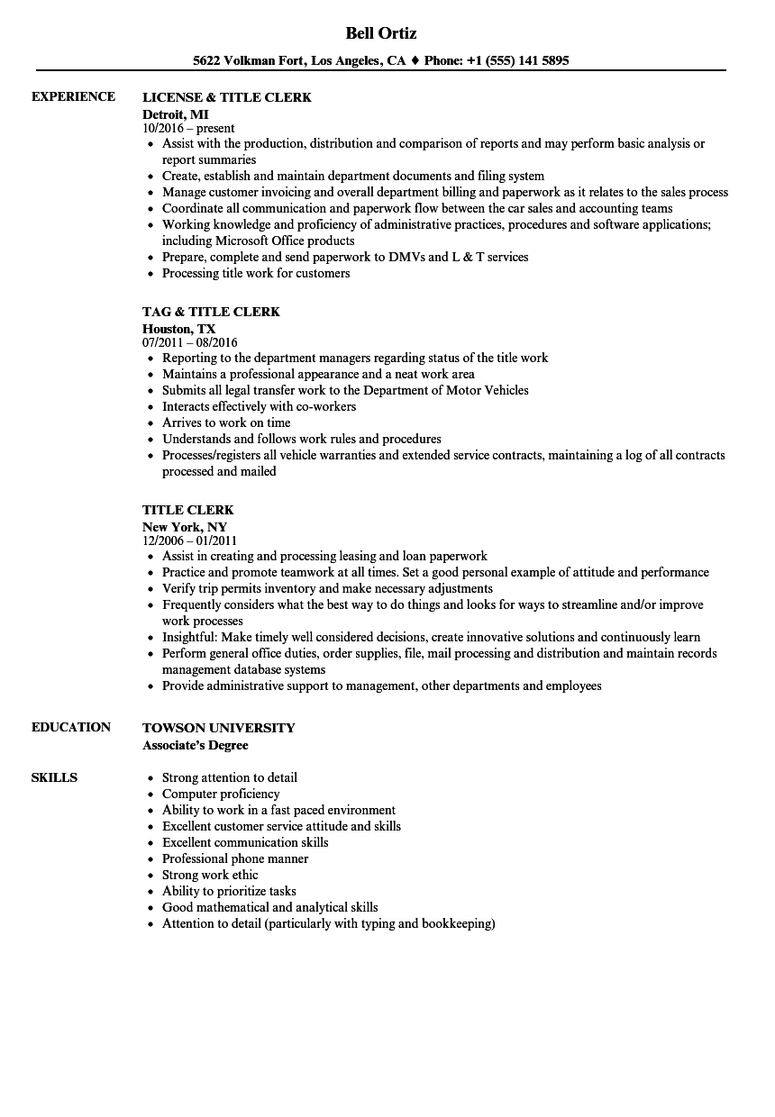 A Resume Title Examples In 2020 Resume Examples Resume Overused Words