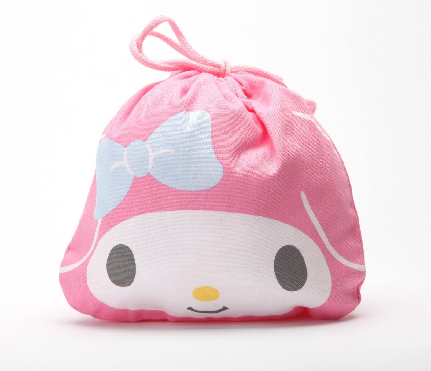 6b2511a78cd0 My Melody Draw-String Bag  Face String Bag
