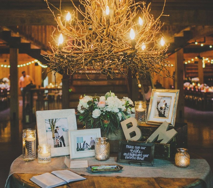 Gift Table At Wedding Reception: Rehearsal Dinner Welcome Setup