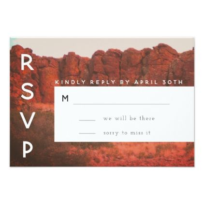 Desert Rocks RSVP Card Rsvp Wedding invitation cards and Custom