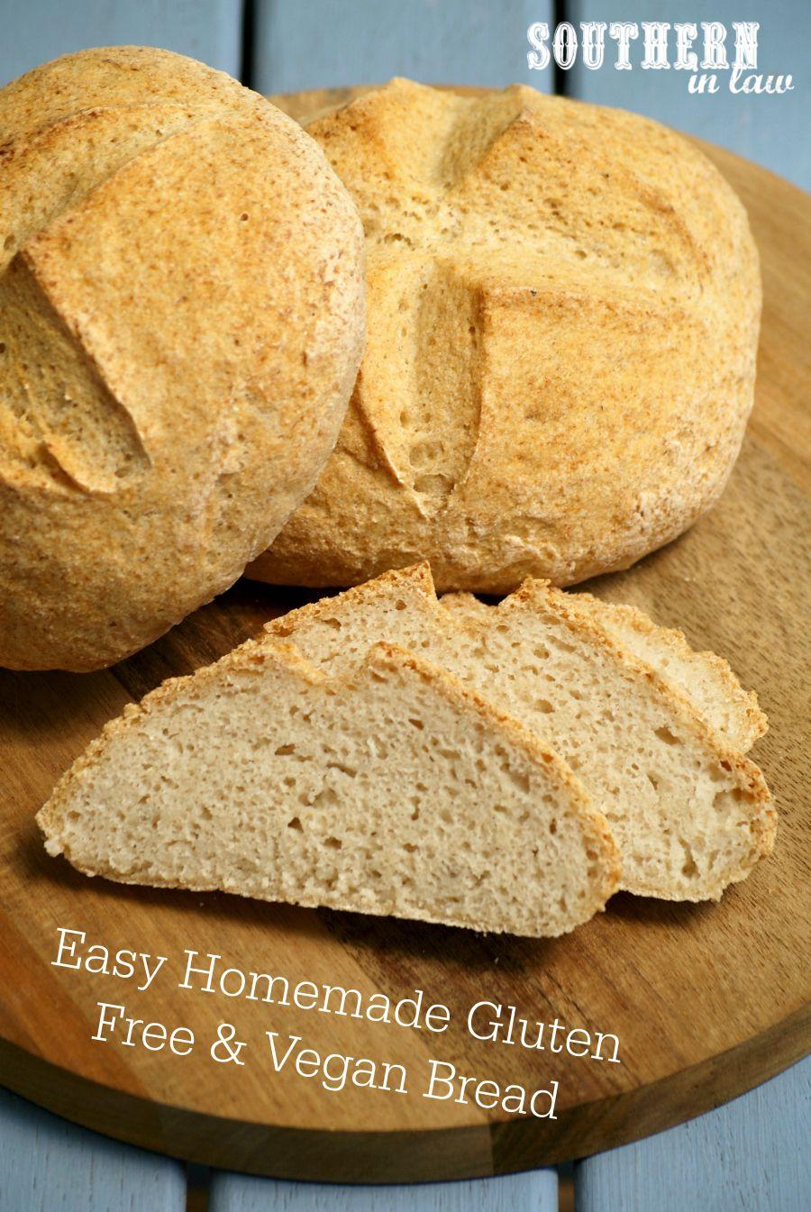 Recipe Easy Homemade Gluten Free and Vegan Bread (Crusty