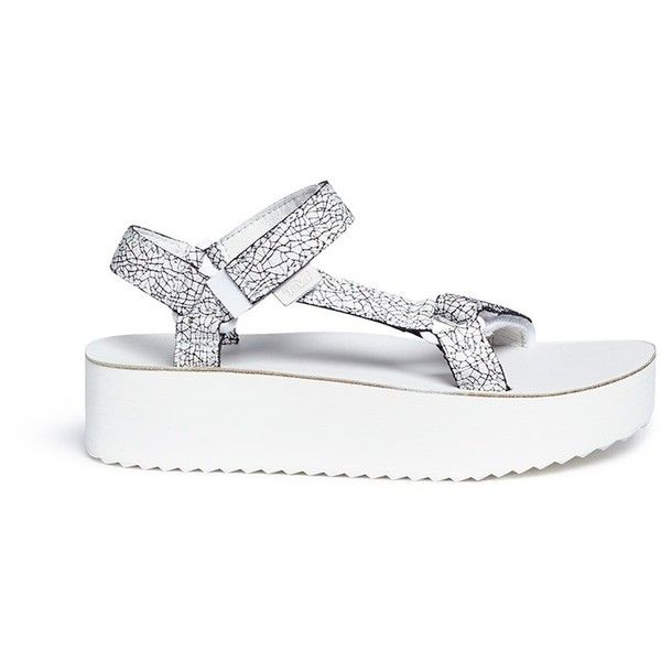 83ef42457cc Teva  Flatform Universal Crackle  leather sandals (1.364.250 IDR) ❤ liked