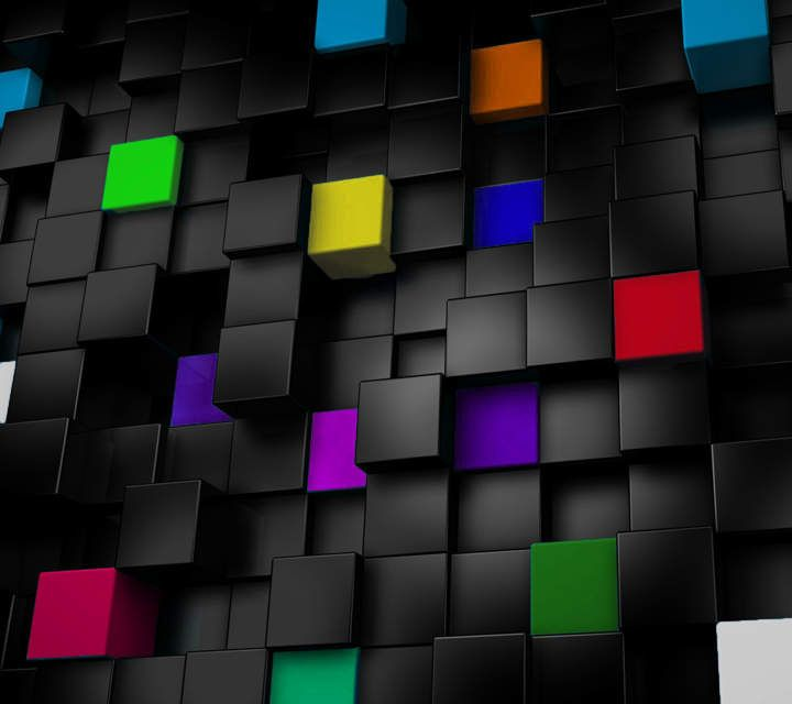 3d Color Cubes Cool Wallpapers For Phones Phone Wallpaper Patterns Cube