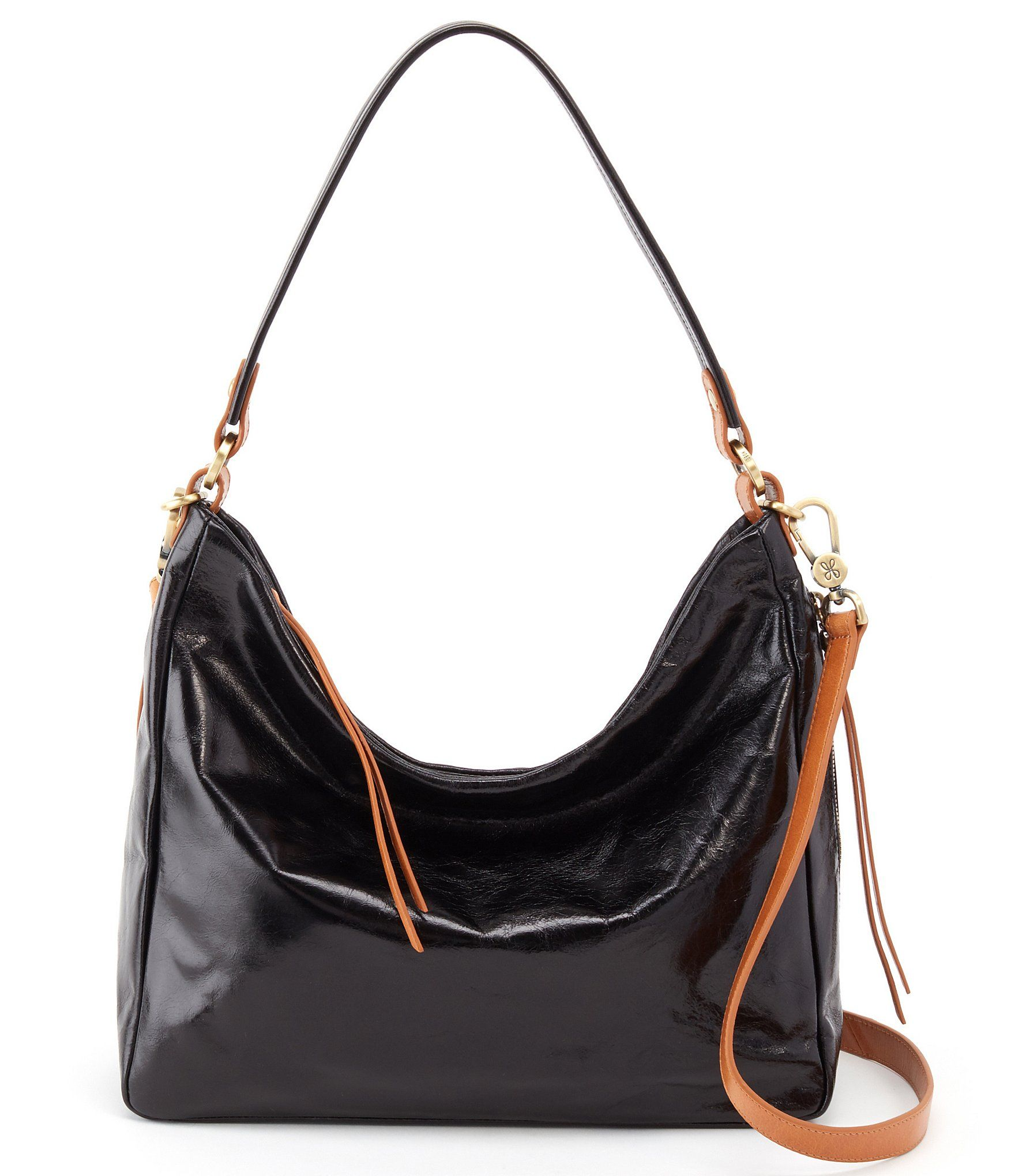 Hobo Delilah Shiny Leather Hobo Bag Dillard S Leather Hobo Bag Leather Hobo Hobo Bag