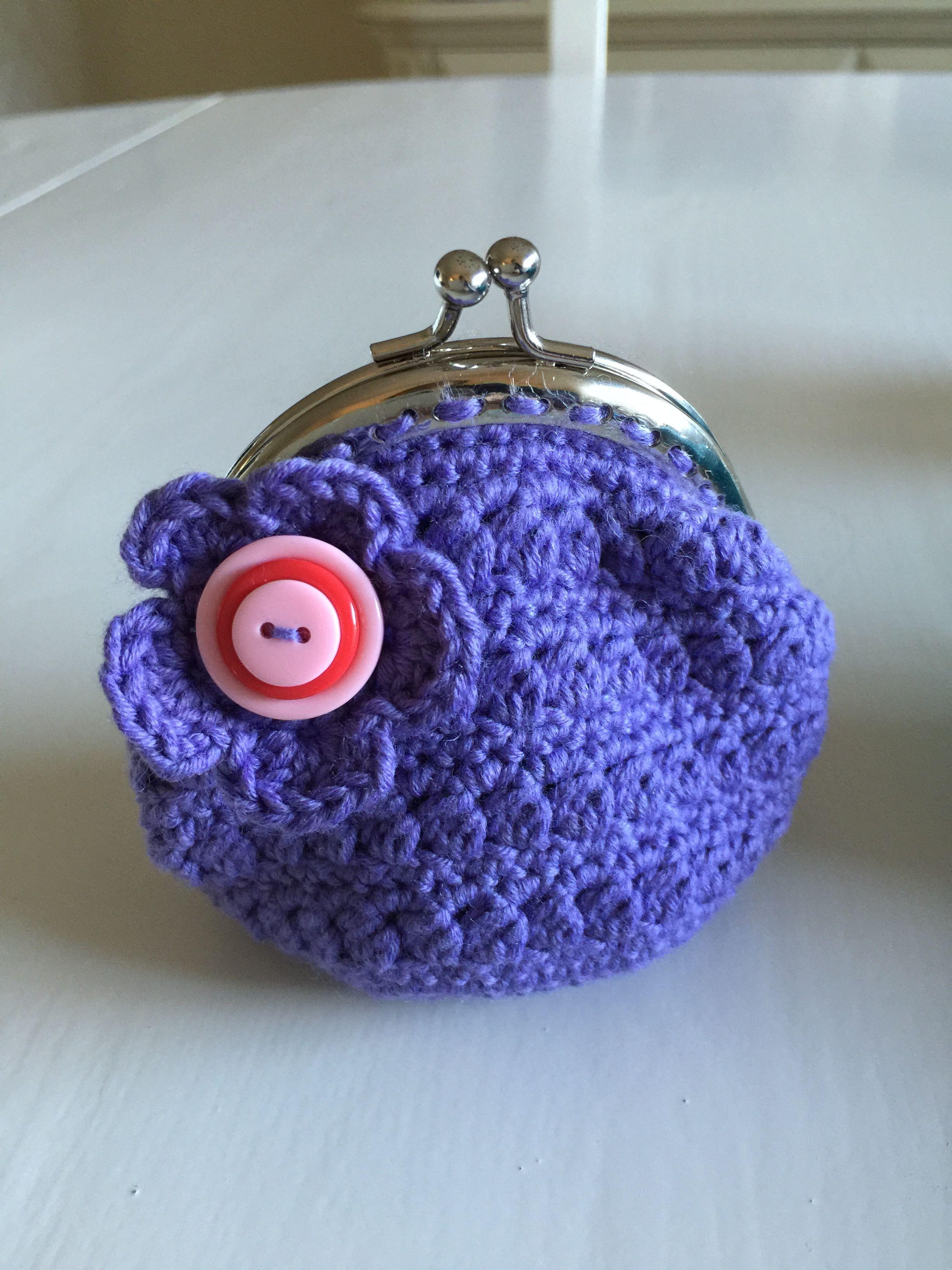 Gehaakte portemonnee/ crochet wallet / häkeln Geldbörse | Häkeln ...