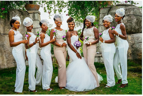 Bridal Parties House Of Ollichon Loves Stylish Bridesmaids In Jumpsuits Bridaljumpsuit Bridalwear