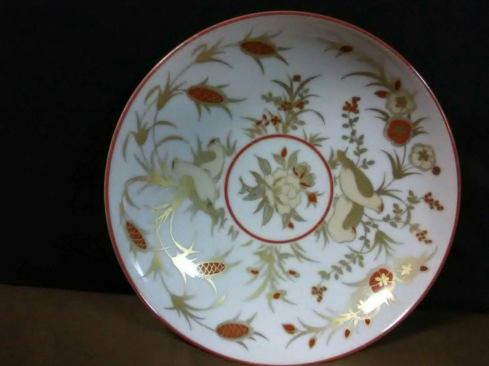 Details About Vtg Villeroy Boch Heinrich Porcelain Red 22kt Gold