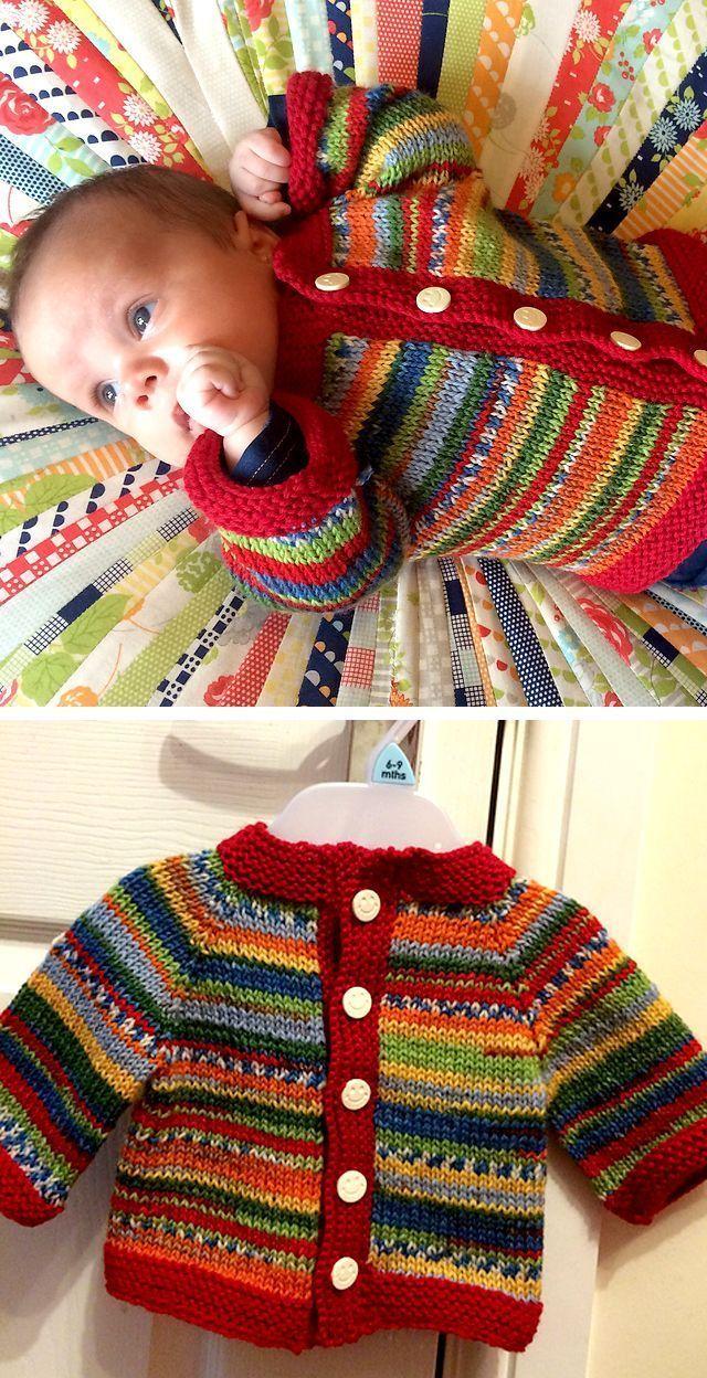 Fuss Free Baby Cardigan – Free Pattern #crochetbabycardigan