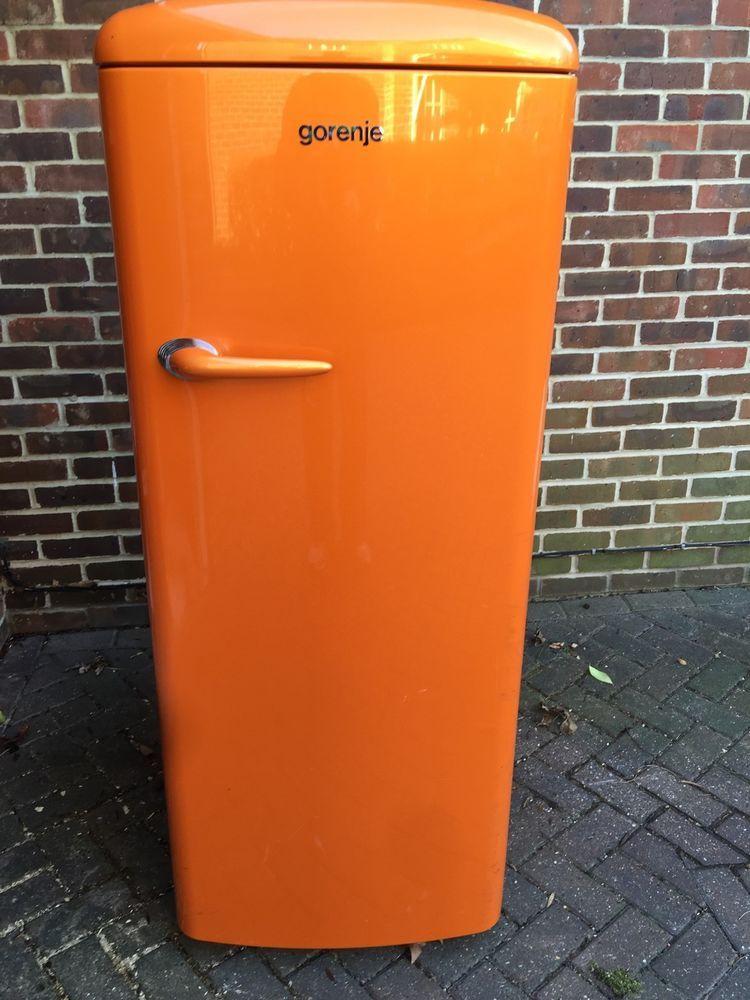 Gorenje Rb60299oo Orange Retro Fridge With Freezer Box Retro Fridge Refrigerator Sale Freezer