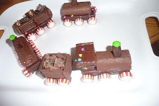 Train made out of candy & little Debbie cakes