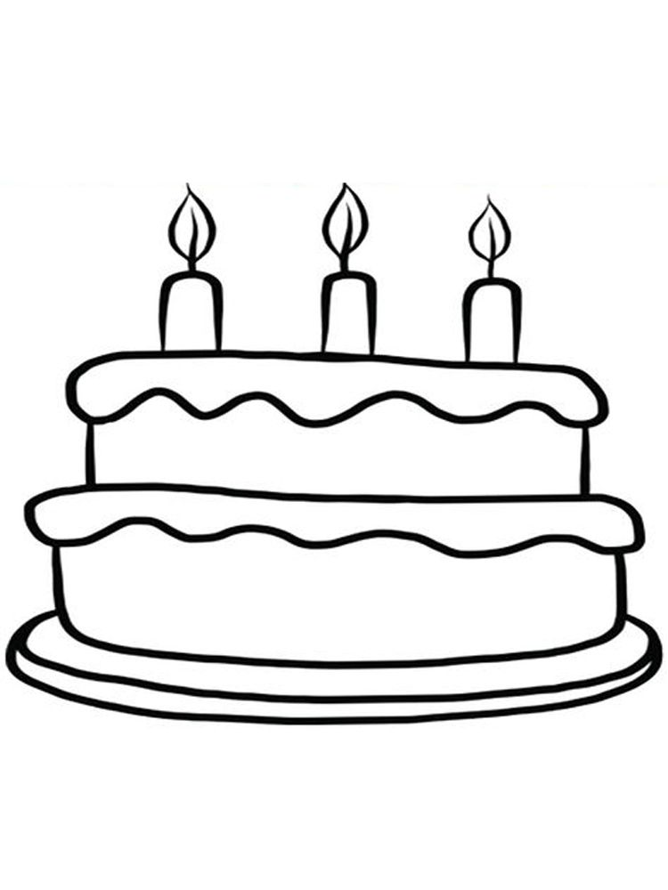 Birthday Cake Coloring Sheets Free Birthday Cake Is A Cake Given To Someone On His Birthday This Cake Is U Colorful Cakes Coloring Sheets Cool Coloring Pages