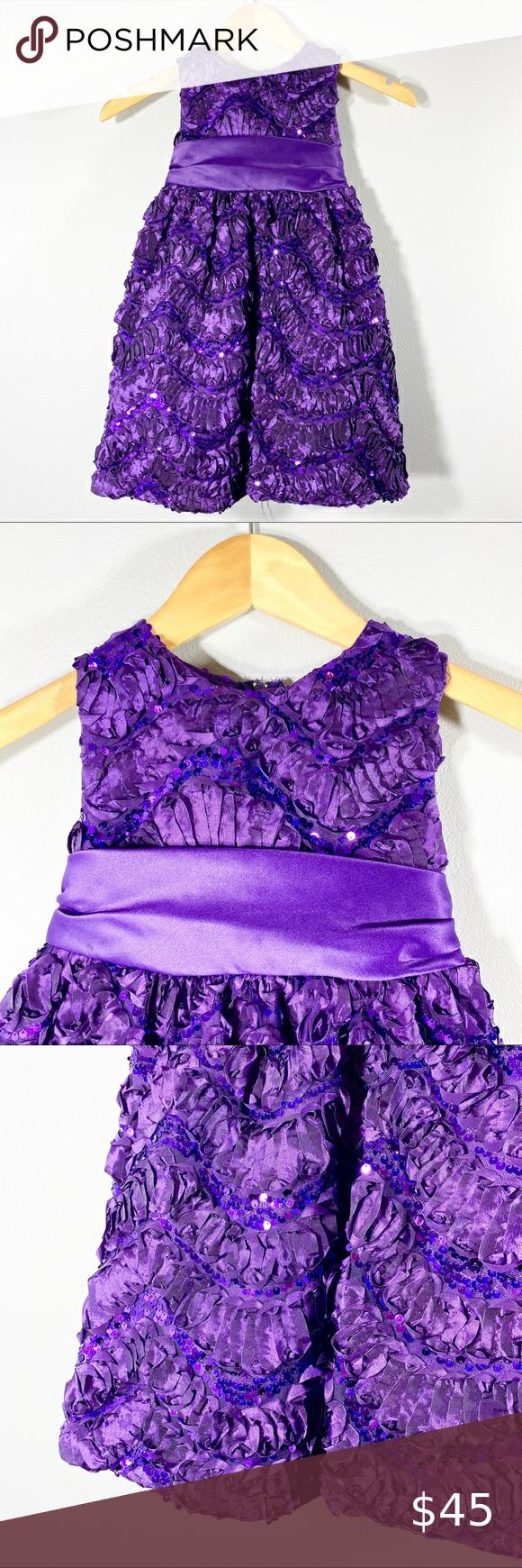 Rare Editions Nwot Purple Girls Ball Gown Sz 4t Girls Ball Gown Rare Editions Dress Ball Gowns [ 1740 x 580 Pixel ]