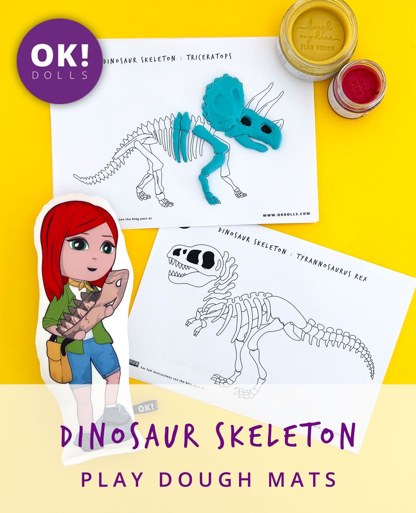 Dinosaur Skeleton Printables
