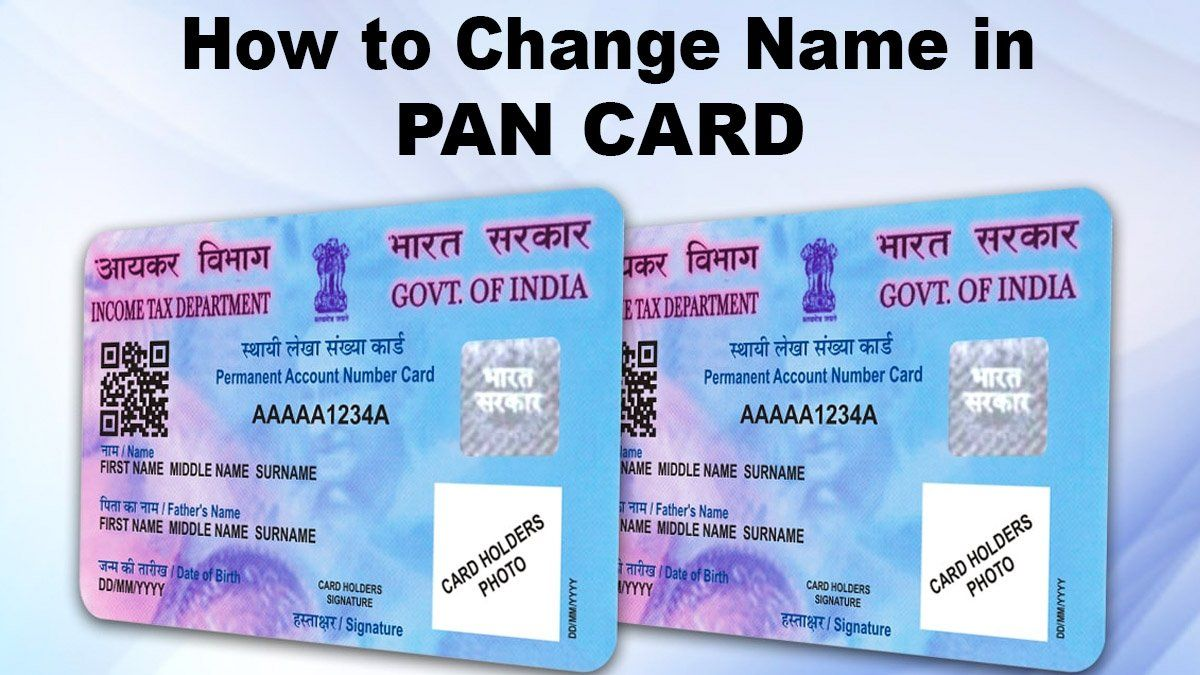 9 New Ideas Correction In Pan Card Name How To Change Name Name Cards Cards