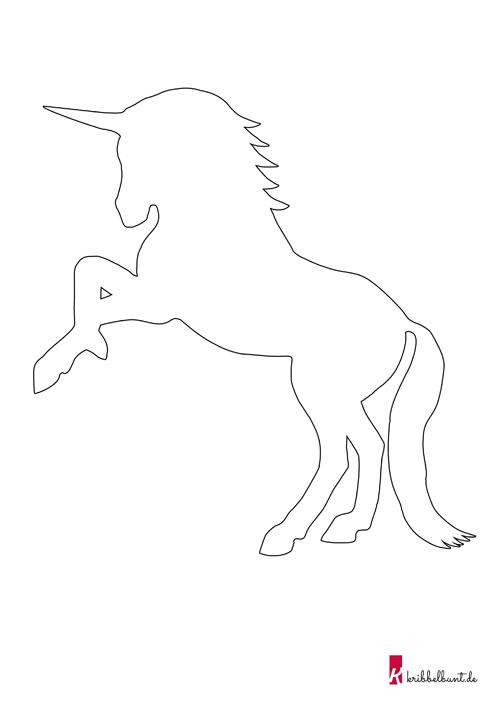 Einhorn Vorlage » Einhorn Schablone als PDF Kribbelbunt