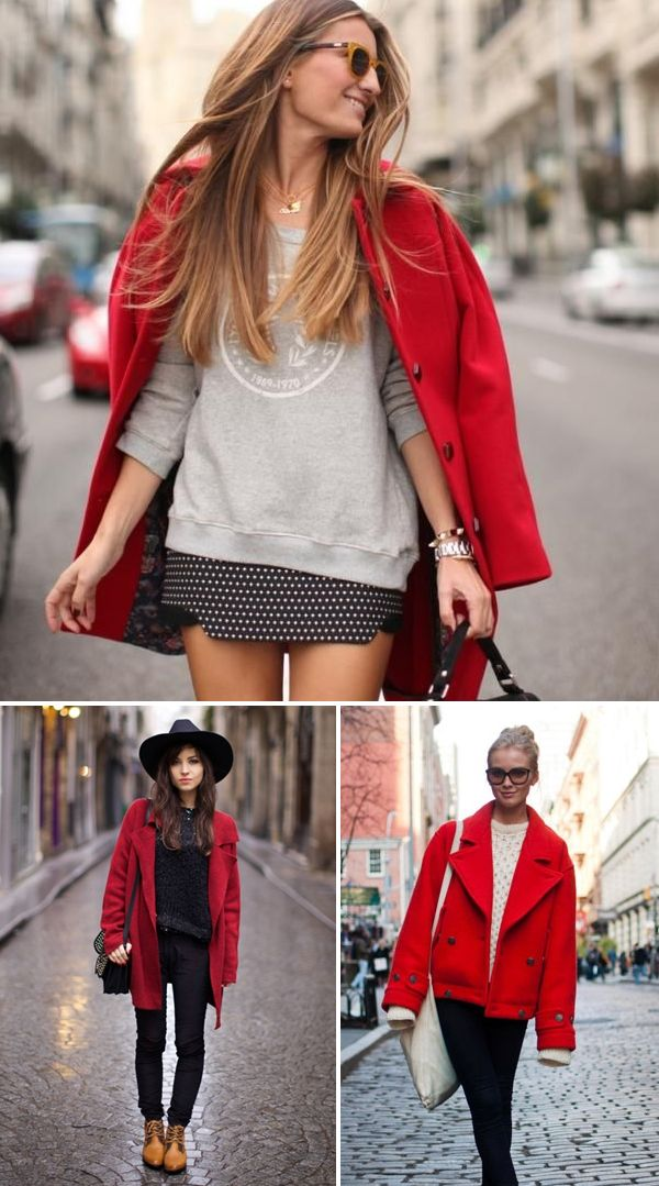 Red coat style | style | Pinterest | Clothes, Winter and Fall winter