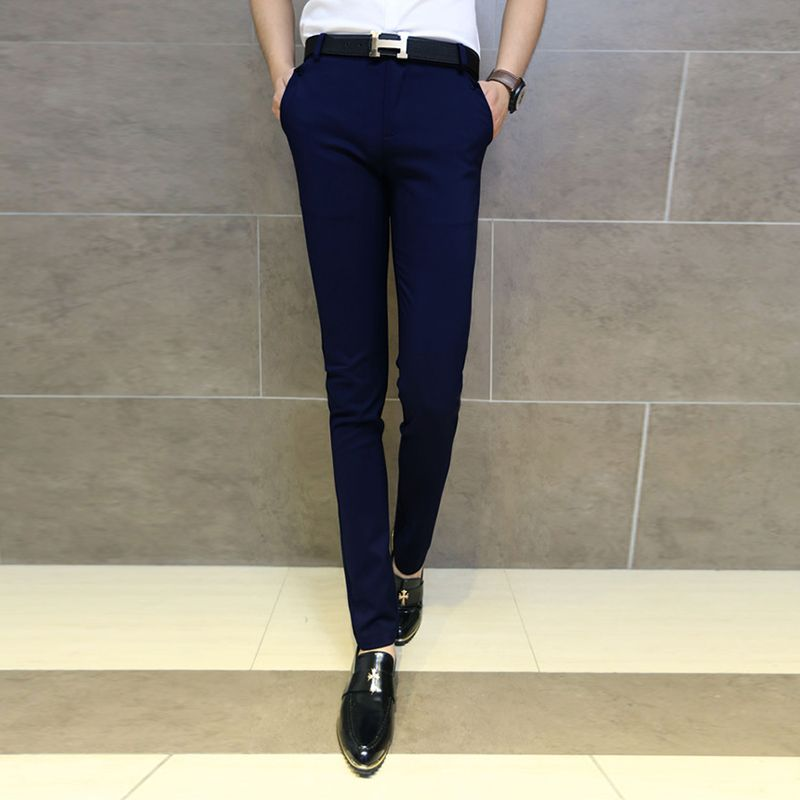 Wholesale-2016 new man suit-pants Free shipping mens black fit ...