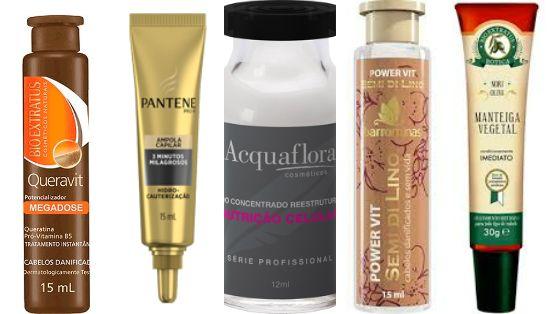 Feirinha Chic : 05 ampolas para turbinar o tratamento do cabelo