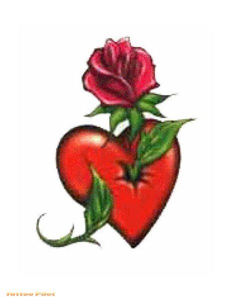 Heart With Rose Tattoos Pinterest Tattoos Heart Tattoo