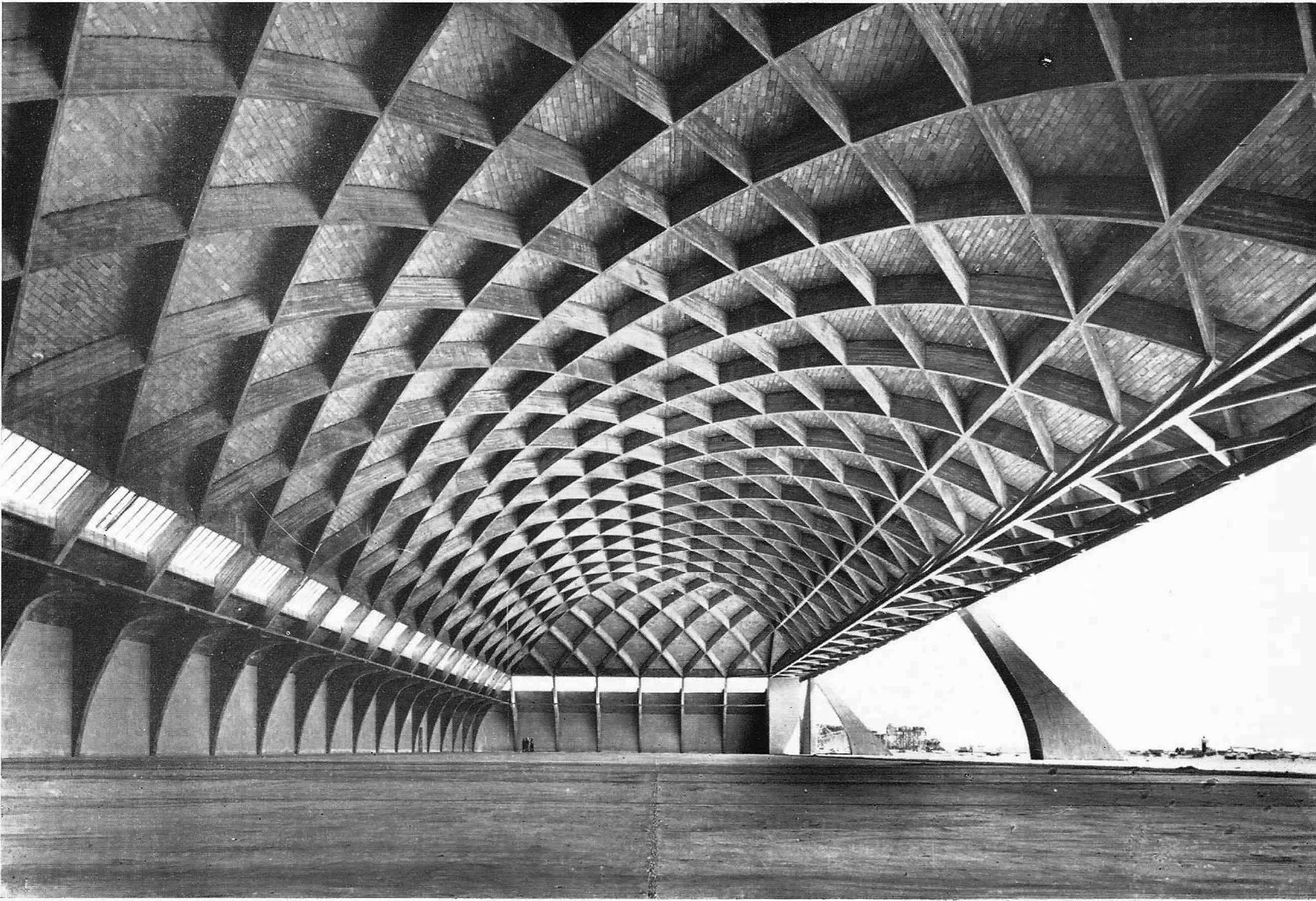 Pier luigi nervi airplane hangar home