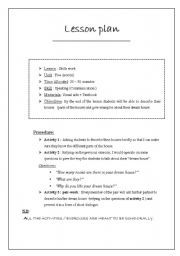 Attirant English Worksheet: Lesson Plan Sample