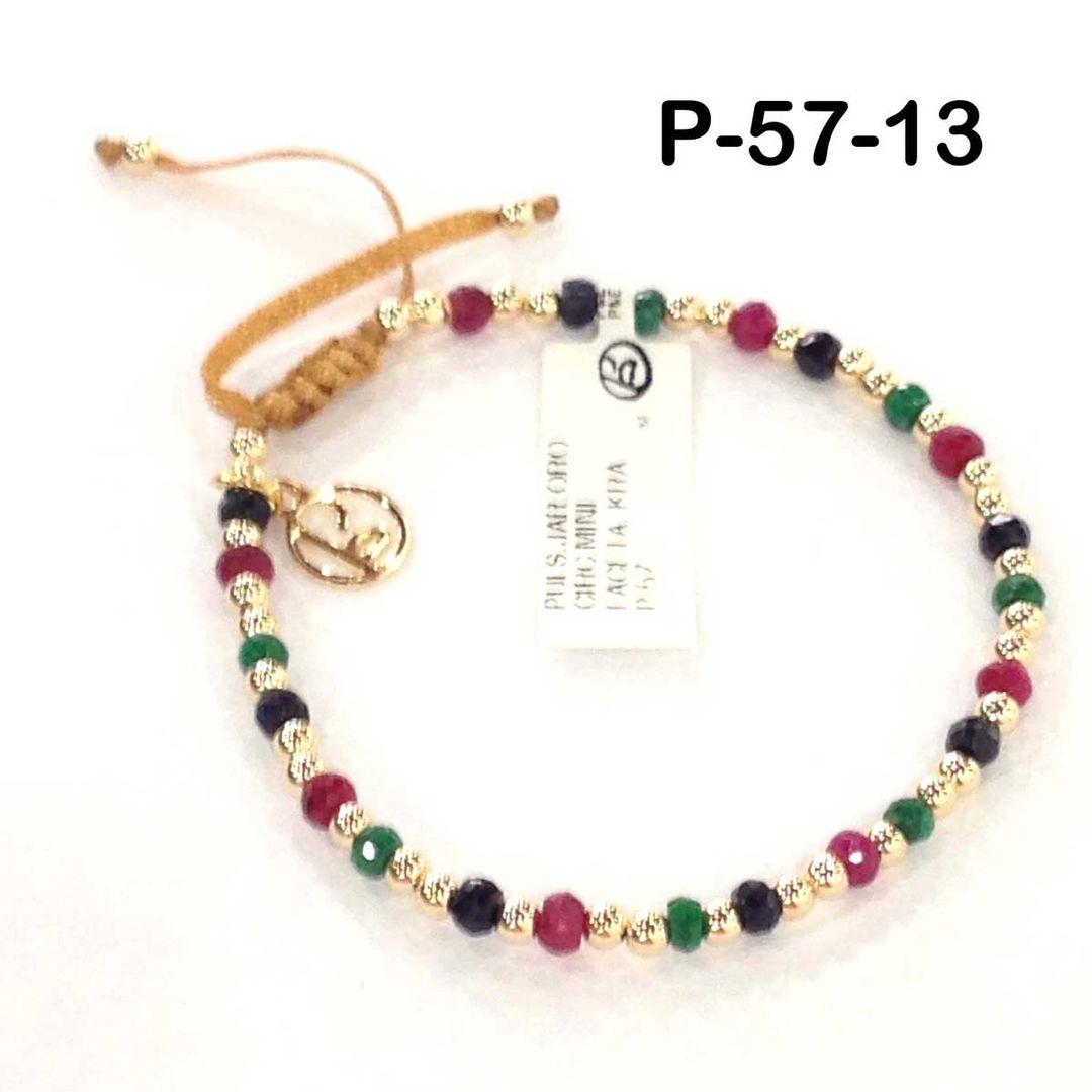 1d7d7c7577ea P E Joyerias P-57 Pulsera en Piedras Finas y semipreciosas  braceletsideas