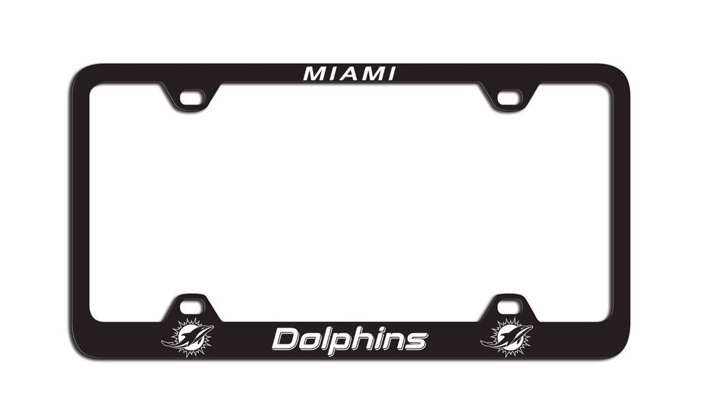Miami Dolphins Laser License Plate Frame Miamidolphins