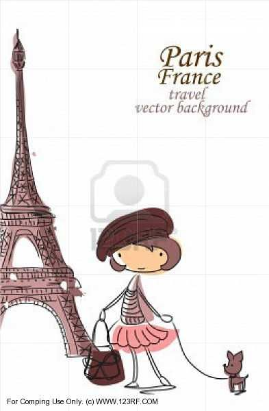 Fashion Cartoon Girl Travels The World Girl Cartoon Girls Trip Romantic Paris