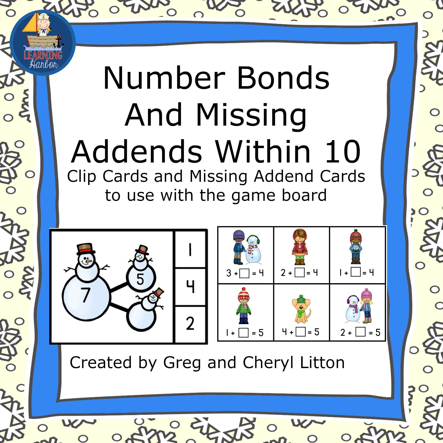 worksheet Missing Addends practice number bonds with clip cards and missing addends everything is in color and