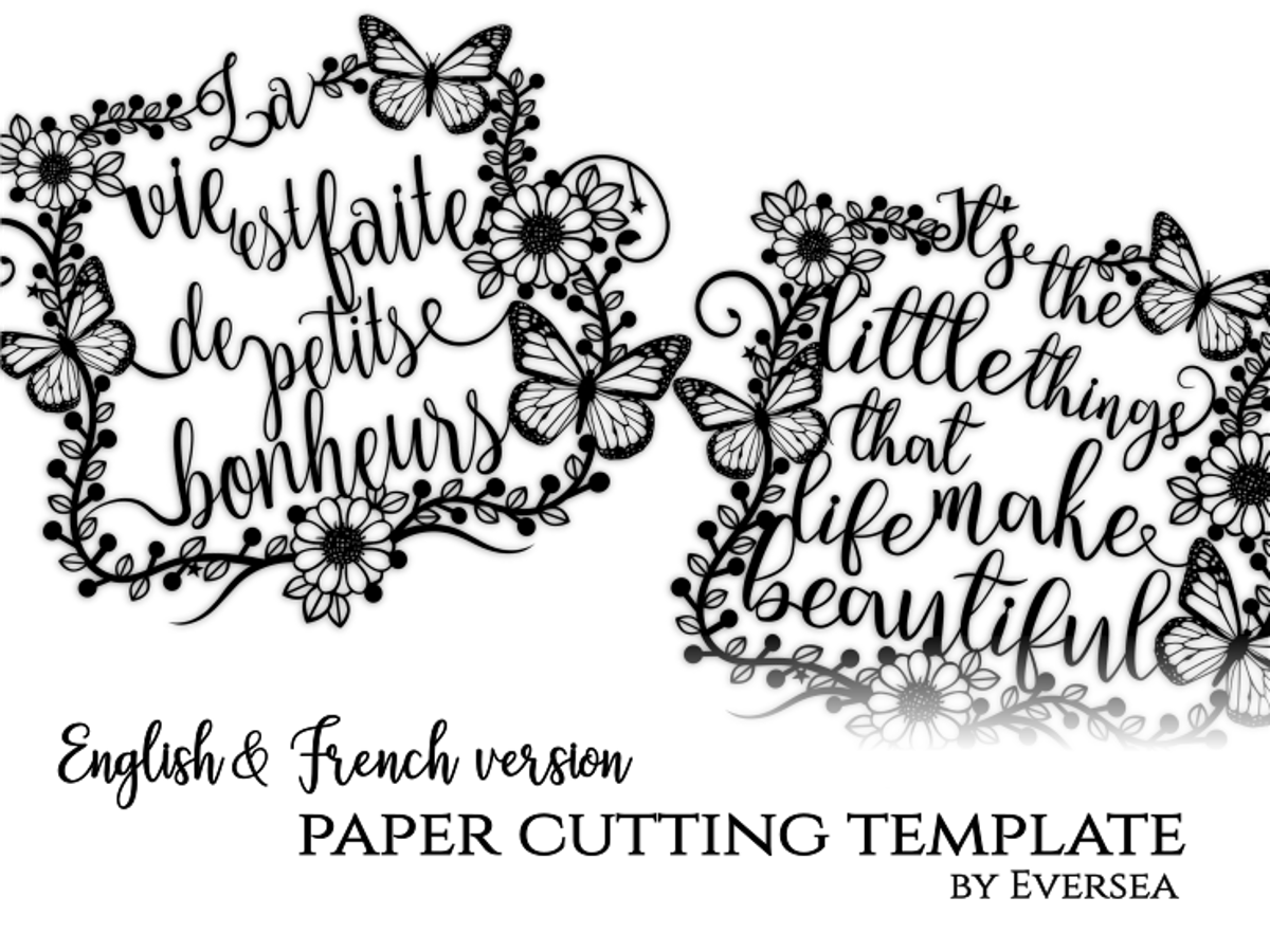 Paper cutting Template, Little things make life | Paper cutting ...