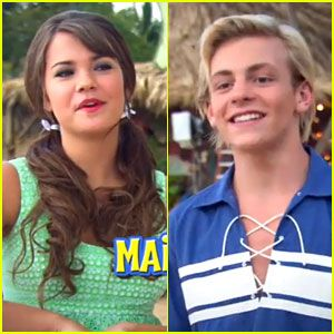 Maia Mitchell and Ross Lynch on Teen Beach Movie