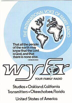 QSL Card From WYFR. QSL Card From Shortwave Radio Station WYFR, Okeechobee,  Florida, USA | Pegatinas, Bandera