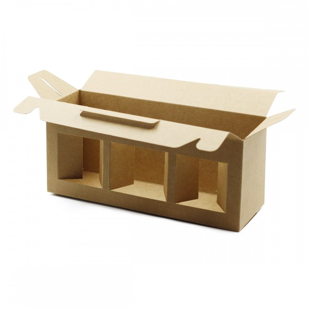 لتقديم وحفظ علب البلاستيك علبة كرتوينه ب 3 نوافذ سهلة الحمل تستوعب 3 علب مناسبة لعلب البلاستيك مقاس 350 و 220 مل مقاس ال Container Takeout Container Food