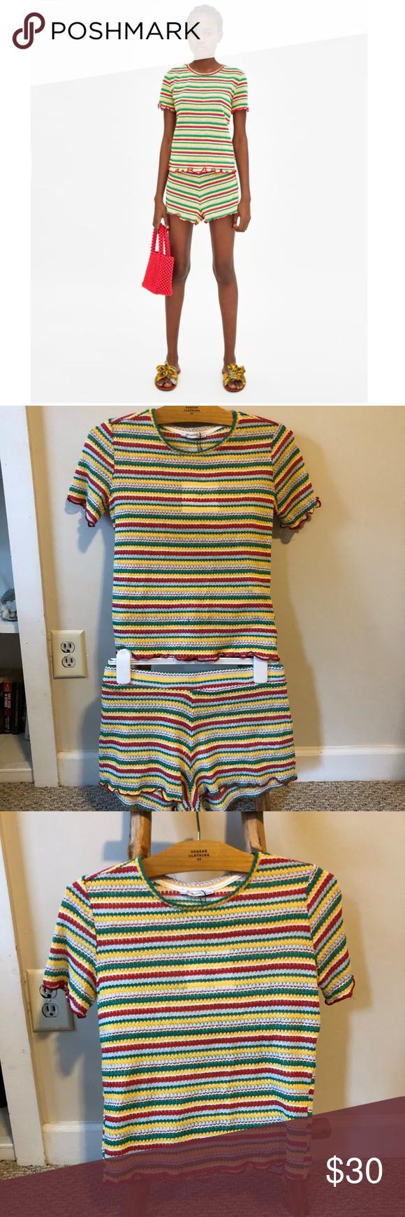 3fcba8a085 💥NEW Zara Striped Two Piece Set Brand new, never worn striped knit set from