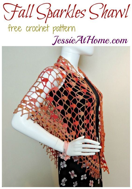 Fall Sparkles Shawl - free crochet pattern by Jessie At Home ...