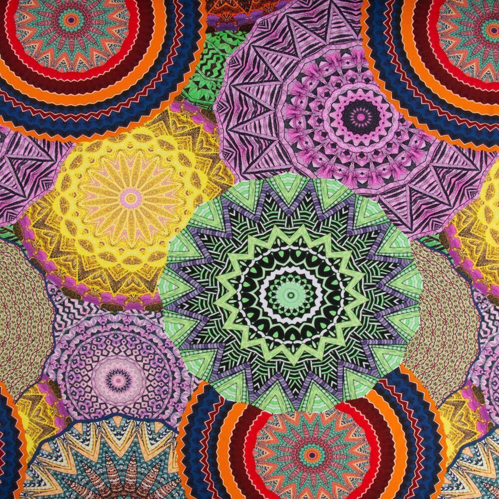 Baumwolljersey Digitaldruck Mandala Blumen Bunt 1 5m Breite Mandala Blumen Bunt Schone Muster