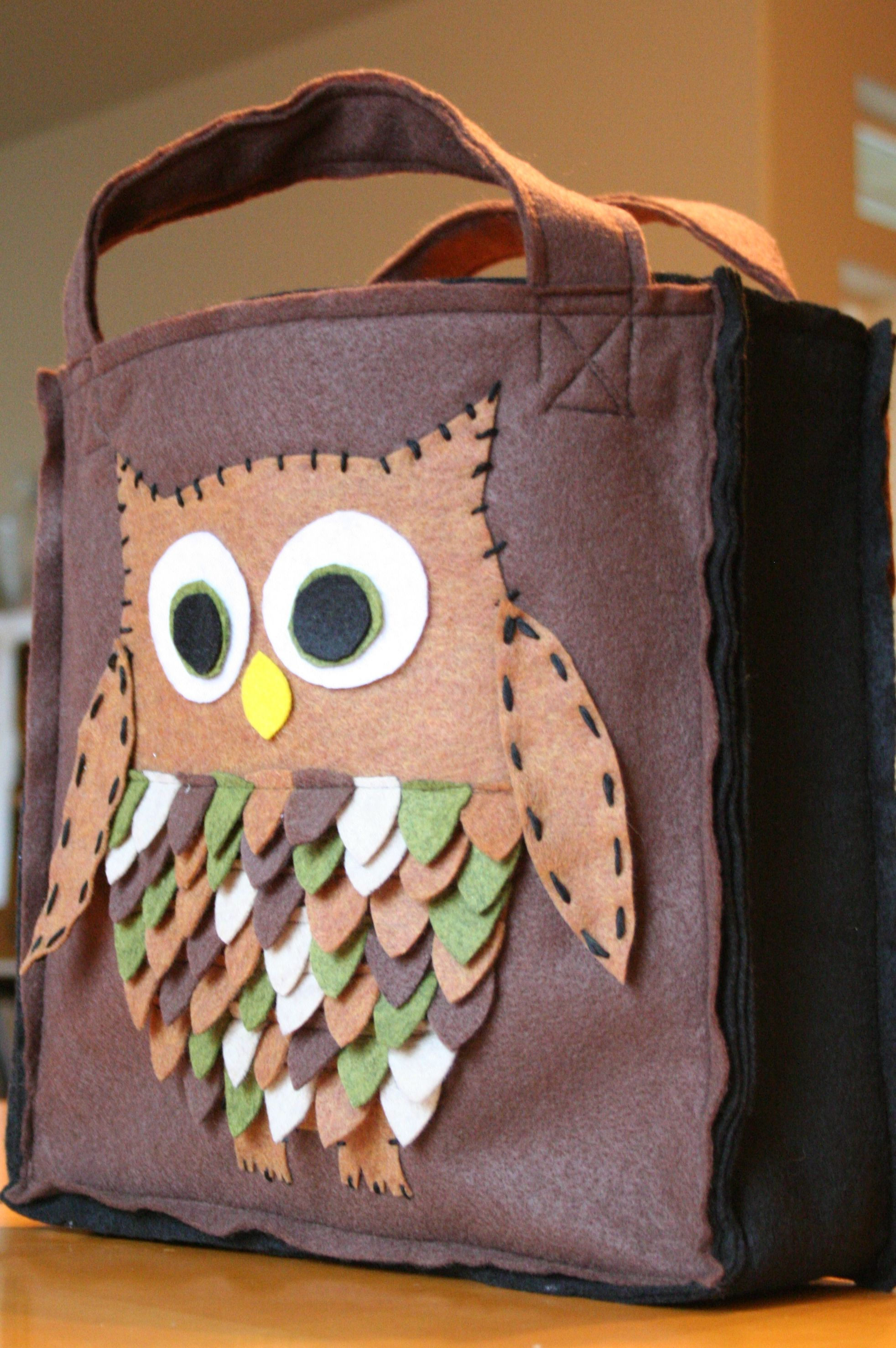 Owl Trick or Treat Bag - Small Town Cookie