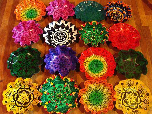 Eye Pop Art Mandala Record Bowls Record Crafts Vinyl Record Crafts Vinyl Crafts